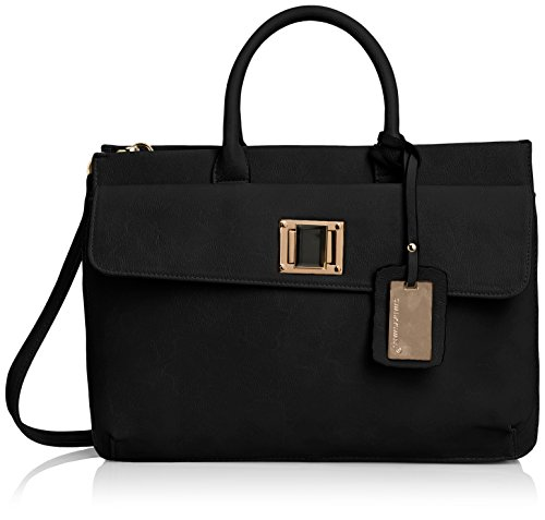 swankyswans-womens-elle-pu-leather-business-laptop-bag-black