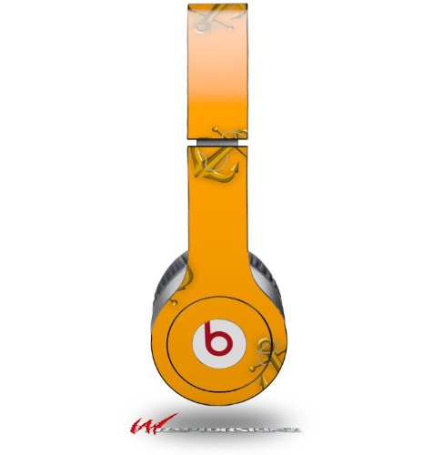 Anchors Away Orange Decal Style Skin (Fits Genuine Beats Solo Hd Headphones - Headphones Not Included)