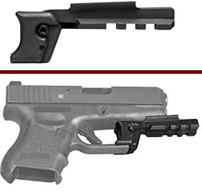 Ultimate Arms Gear Glock 9mm .40 S&W Gen 1 and G26 G27 Sub Compact Pistol Handgun Trigger Guard Mount Weaver Picatinny Rail Adapter for Scope, Sights, Lasers, Lights & Accessories by Ultimate Arms Gear