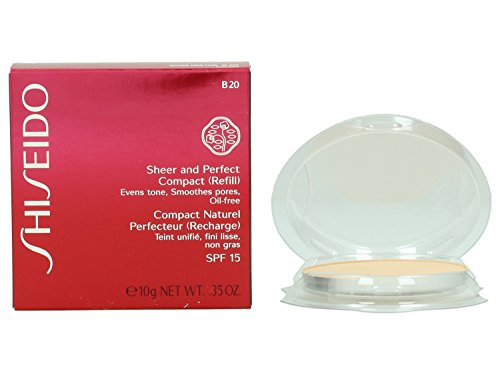 Shiseido, Sheer and Perfect, Ricarica per fondotinta compatto in polvere, 10 g, n. B20