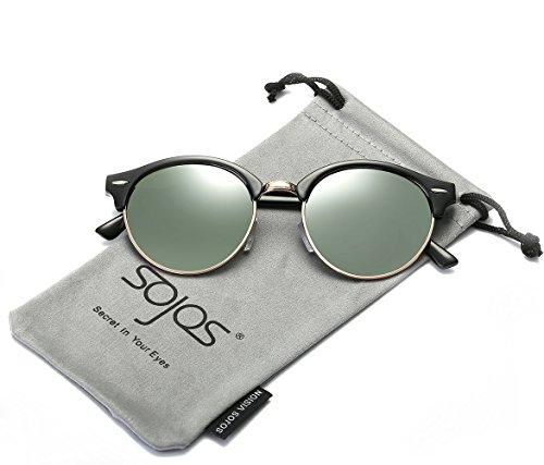 SojoS -  Occhiali da sole  - Uomo C2 Black Frame/G15 Lens