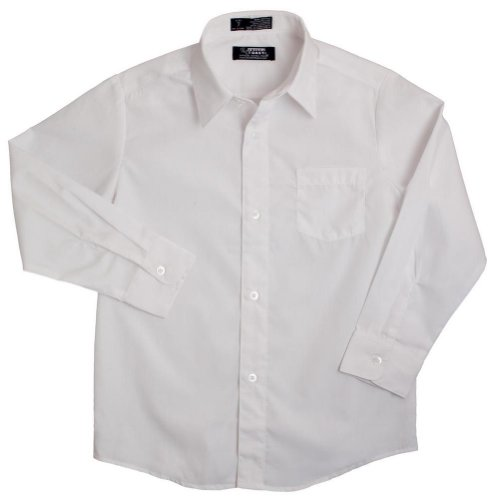 French Toast - Big Boys Long Sleeve Poplin Dress Shirt Style E9004, White 34144-16 front-898831
