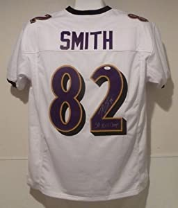 Torrey Smith Autographed Baltimore Ravens Autographed size XL jersey w SB XLVII... by DenverAutographs
