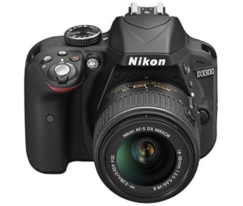 Nikon-D3300-242-MP-Digital-SLR-Camera-Black-with-18-55mm-VR-II-Lens-Kit-with-8-GB-Card-and-Camera-Bag