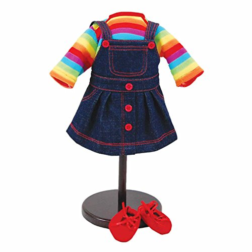 """15"""" Doll Clothes for American Girl Bitty Baby& Bitty Twins, Rainbow Outfit Skirt, Shirt and Shoes"""