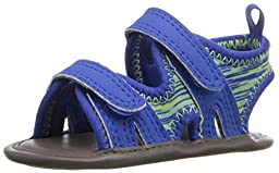 Natural Steps Lil Grayson Crib Shoe Sandal (Infant), Royal Blue, 2 M US Infant