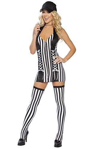 Sexy Lace Up Referee Girl Halloween Costume