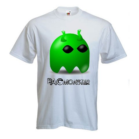 PacMonster, Green Ghost - Video Games T-Shirt