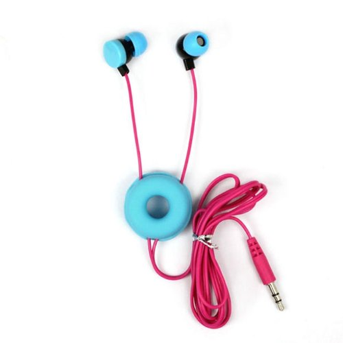 Aokdis Unique Fashion Doughnuts Style In-Ear Earphone Headphone For Iphone/Ipod/Htc/Pc/Samsung (Light Blue)