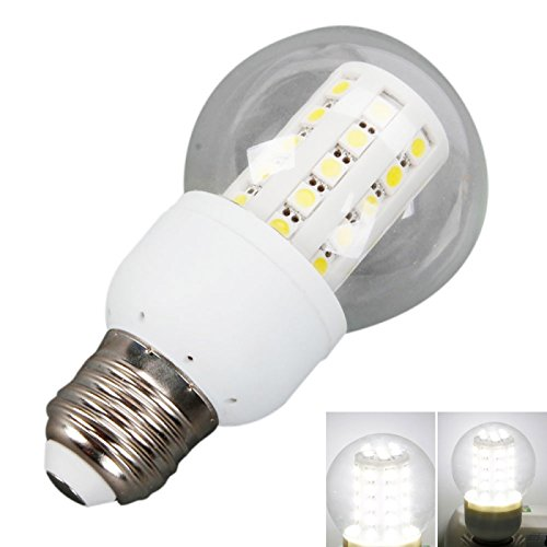 Ball Bulbs - E27 8W 45Led 600 Lumen 6000K White Light Corn Light Bulb With Transparent Cover (220V)