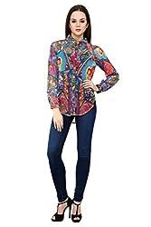 Shilpkala Women's Multi Colour Digital Print Full Sleeve Shirt ( Size-Small)