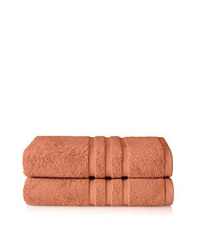 Chortex Irvington 2-Piece Bath Sheet Set, Coral