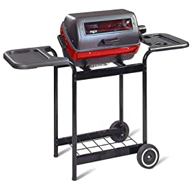 "Deluxe Electric Grill with Side Flaps by Meco (Red/Black) (40""H x 39""W x 15.5""D)"