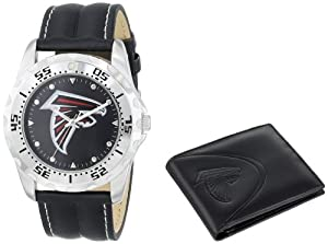 Game Time Unisex NFL-WWS-ATL Wallet and Atlanta Falcons NHL Watch Set by Game Time