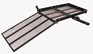 400Lb Capacity Wheelchair and Power Scooter Folding Cargo Carrier Rack