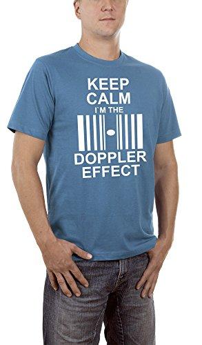 Touchlines-Keep-Calm-Im-the-Doppler-Effect-Camiseta-Hombre-Blau-Steelblue-15-XXX-Large