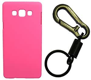 Toppings Hard Case Cover With Matallic KeyChain For Samsung Galaxy On7 - Pink