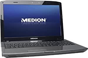 Medion Akoya P6812 39,6 cm (15,6 Zoll) Notebook (Intel Core i3 2330M, 2,2GHz, 4GB RAM, 750GB HDD, NVIDIA GeForce GT555M, Intel HD, Win 7 HP) schwarz/silber