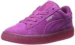 PUMA Suede Classic Iced Kids Sneaker (Little Kid/Big Kid/Little Kid) , Vivid Viola/Puma Silver, 3 M US Little Kid