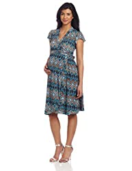 Everly Grey Women's Maternity Uma Wrap Dress, Palermo Print, Small