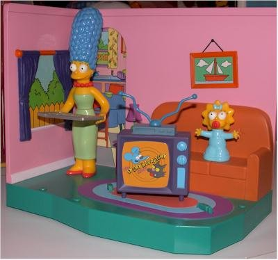 The Simpsons Living Room Playset With Exclusive Marge Maggie 043377991212