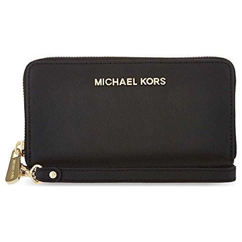 Michael Kors Jet Set Women's Travel Large Coin Wallet Black