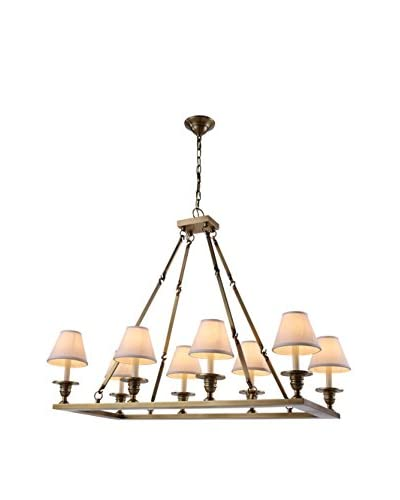 Urban Lights Franklin 8-Light Pendant Lamp, Burnished Brass