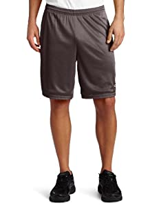 Champion Men's Long Mesh Short With Pockets,Granite Heather,XLARGE