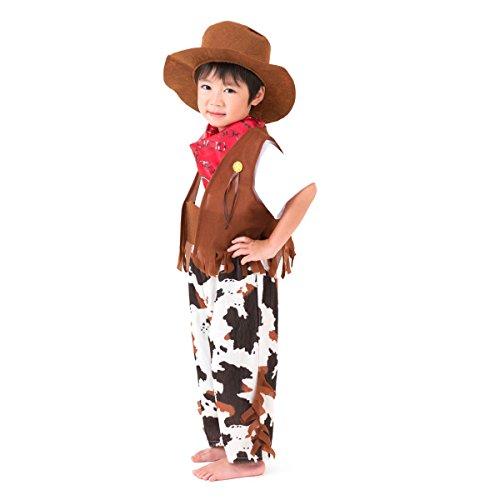 赤ちゃんまーけっと ハロウィン 衣装 子供 男の子 カウボーイ 110 120 130