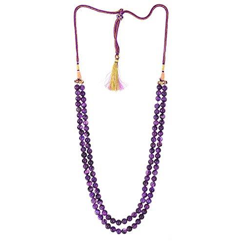 be-you-couleur-violet-amethyste-africaine-naturelle-rondelle-plaine-perles-de-forme-2-lignes-collier