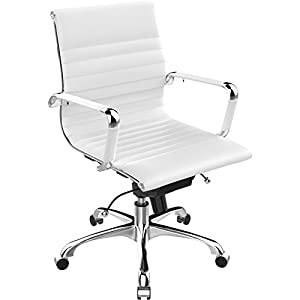 Poly and Bark Eames Style AG Management Office Chair in Soft Touch Leather