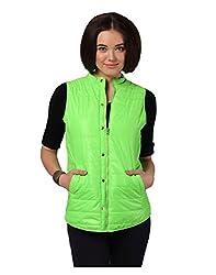 Yepme Women's Green Polyester Jacket-YPMJACKT5035_L