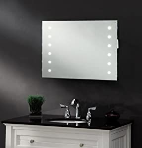 LED ILLUMINATED BATHROOM MIRROR / W 700 x H 500 mm / IP44 / DEMISTER / SHAVER / SENSOR   REFLEX       review and more news
