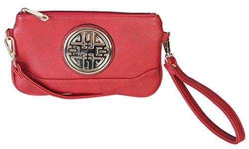 rimen-co-small-woman-cross-body-messenger-purse-handbag-with-wrist-strap-clutch-dh-2389-red
