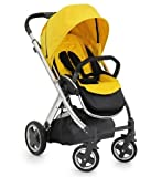 BabyStyle Oyster Pushchair - Mirror Finish inc Mustard Yellow Colour Pack