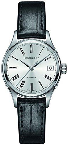 Hamilton H39415754 34 mm automático caja de acero inoxidable de color negro de piel de becerro de zafiro anti-reflectante de el reloj de las mujeres