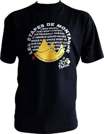 T-shirt - Les Etapes de Montagne - Collection officielle Le Tour de France - Cyclisme - Tee shirt Taille adulte homme