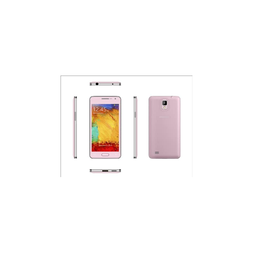 2014 New Design Ultra thin Generic Unlocked Quadband Dual Sim With 4.63 Inch Capacitive Touch Screen 3G Smart Phone Simple Mobile Phone MINI 900(Pink)