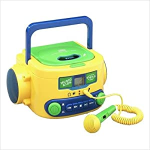 KIDS-CD20 CD Player Boom Box with Karaoke Mic