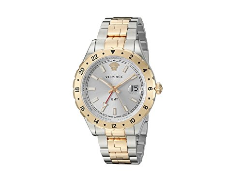 Versace-Mens-HELLENYIUM-GMT-Swiss-Quartz-Stainless-Steel-Casual-Watch-ColorTwo-Tone-Model-V11030015