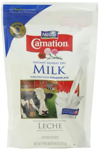 Nestle Carnation Instant Nonfat Dry Milk, 9.6-Ounce Pouch, (Pack of 4) (Fat Free Milk compare prices)