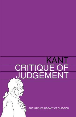 Critique of Judgement (Hafner Library of Classics)