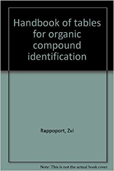 handbook of tables for organic compound identification