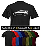 Velocitee Mens Premium T-Shirt Ford Escort Cosworth Stylised Image