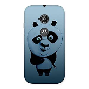 Delighted Panda Puzzled Multicolor Back Case Cover for Moto E 2nd Gen