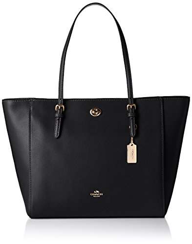 coach-womens-turnlock-tote-shoulder-bag-black-schwarz-li-black