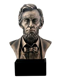 8 Inch Cold Cast Bronze Colored Resin President Abraham Lincoln Bust by Summit