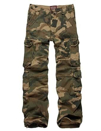 "Match Men's Green Woodland Camo Cambat Military Cargo Pants #3316M (W30""(81cm-83cm), Woodland Camo)"