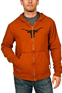 NCAA Texas Longhorns Zip Hoodie Mens by Original Retro Brand
