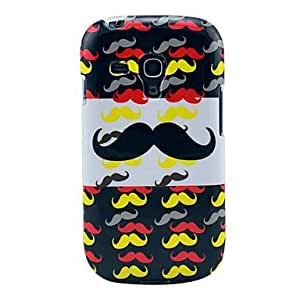 Stylish Multi-Mustache Imd TPU Skin Case for Samsung Galaxy S3 Mini I8190
